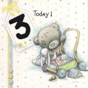 Открытки с Днём Рождения на 3 месяца