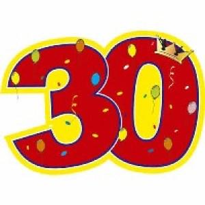 Открытки с Днём Рождения на 30 лет