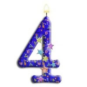 Открытки с Днём Рождения на 4 года