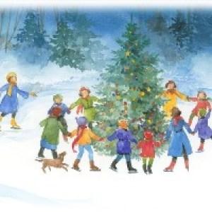 Новогодние открытки-рисунки