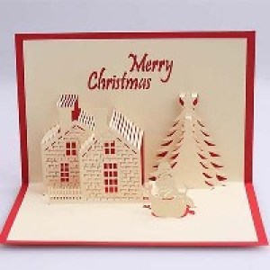 Объемные открытки с Рождеством