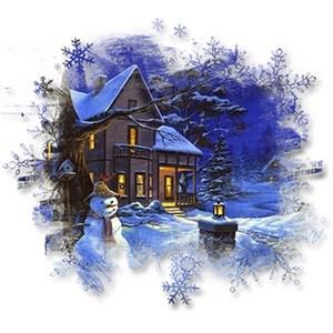 Зимние Вечерние Открытки