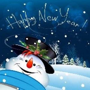 Новогодние открытки на Английском языке