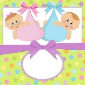 Открытки с Рождением Двойняшек