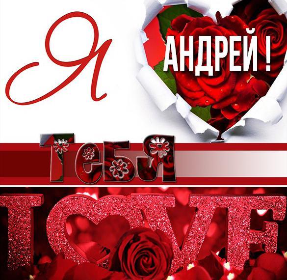 Бесплатная красивая картинка Я люблю тебя Андрей