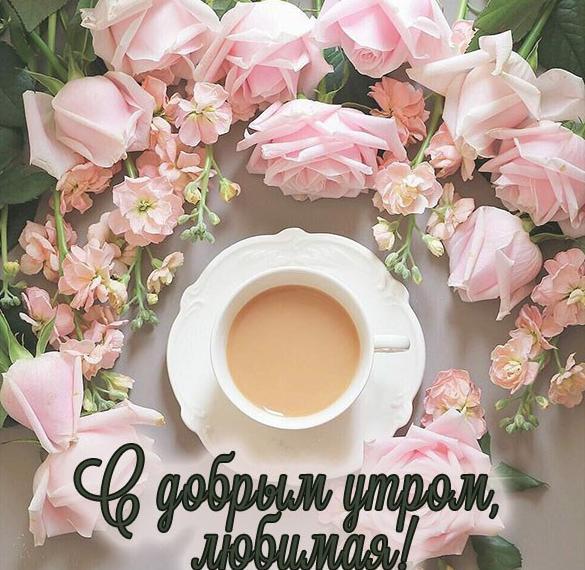Бесплатная открытка с добрым утром любимой