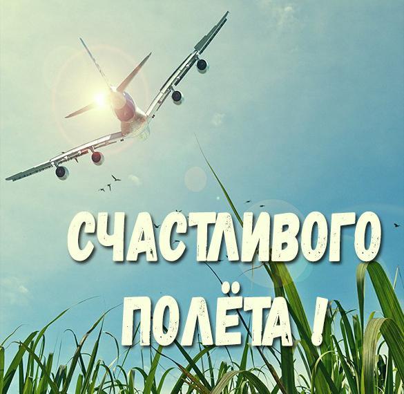 Бесплатная открытка счастливого полета