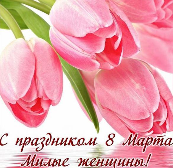 Бесплатная прекрасная открытка с 8 марта