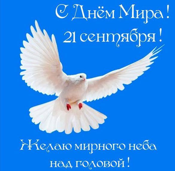 Поздравление в открытке на день мира