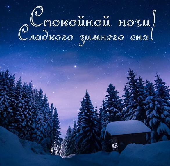 Фото спокойной ночи зимы