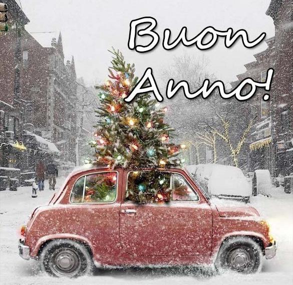 Итальянская открытка с Новым Годом