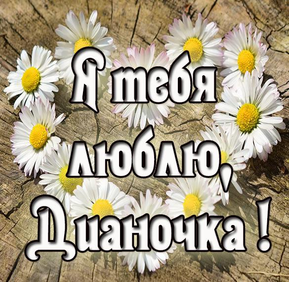 Картинка Дианочка я тебя люблю