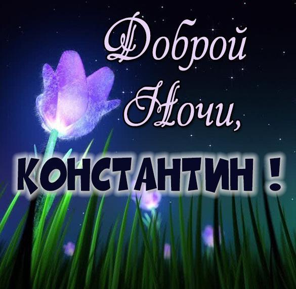Картинка доброй ночи Константин