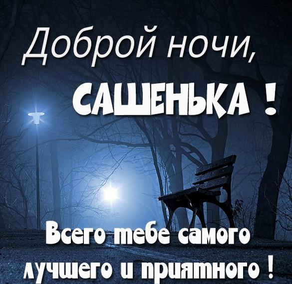 Картинка доброй ночи Сашенька