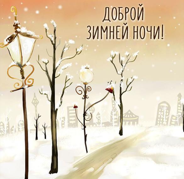 Картинка доброй зимней ночи красивая