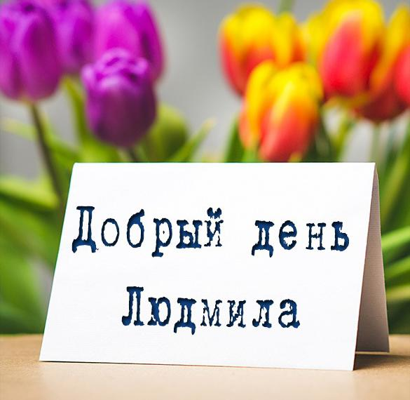 Картинка добрый день Людмила