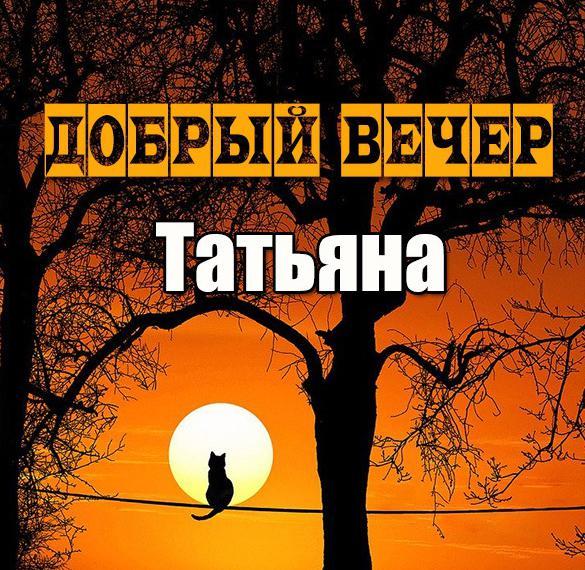 Картинка добрый вечер Татьяна