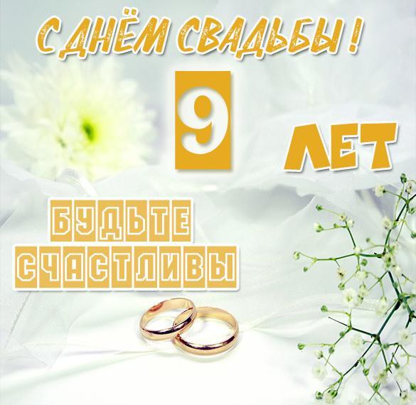 Картинка с годовщиной свадьбы на 9 лет