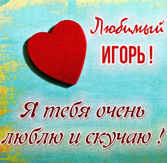 Картинка Игорь я тебя люблю и скучаю