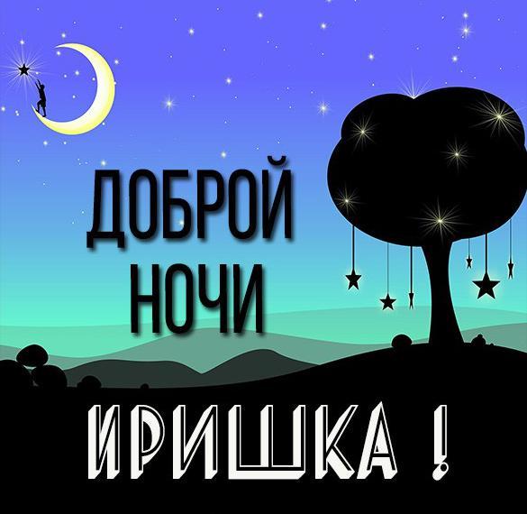 Картинка Иришка доброй ночи