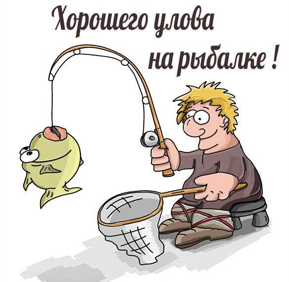 Картинка хорошего улова на рыбалке прикольная