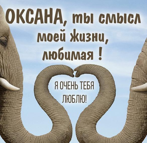 Картинка любимой Оксане