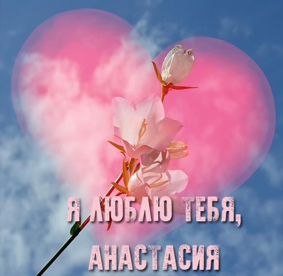 Картинка люблю тебя Анастасия