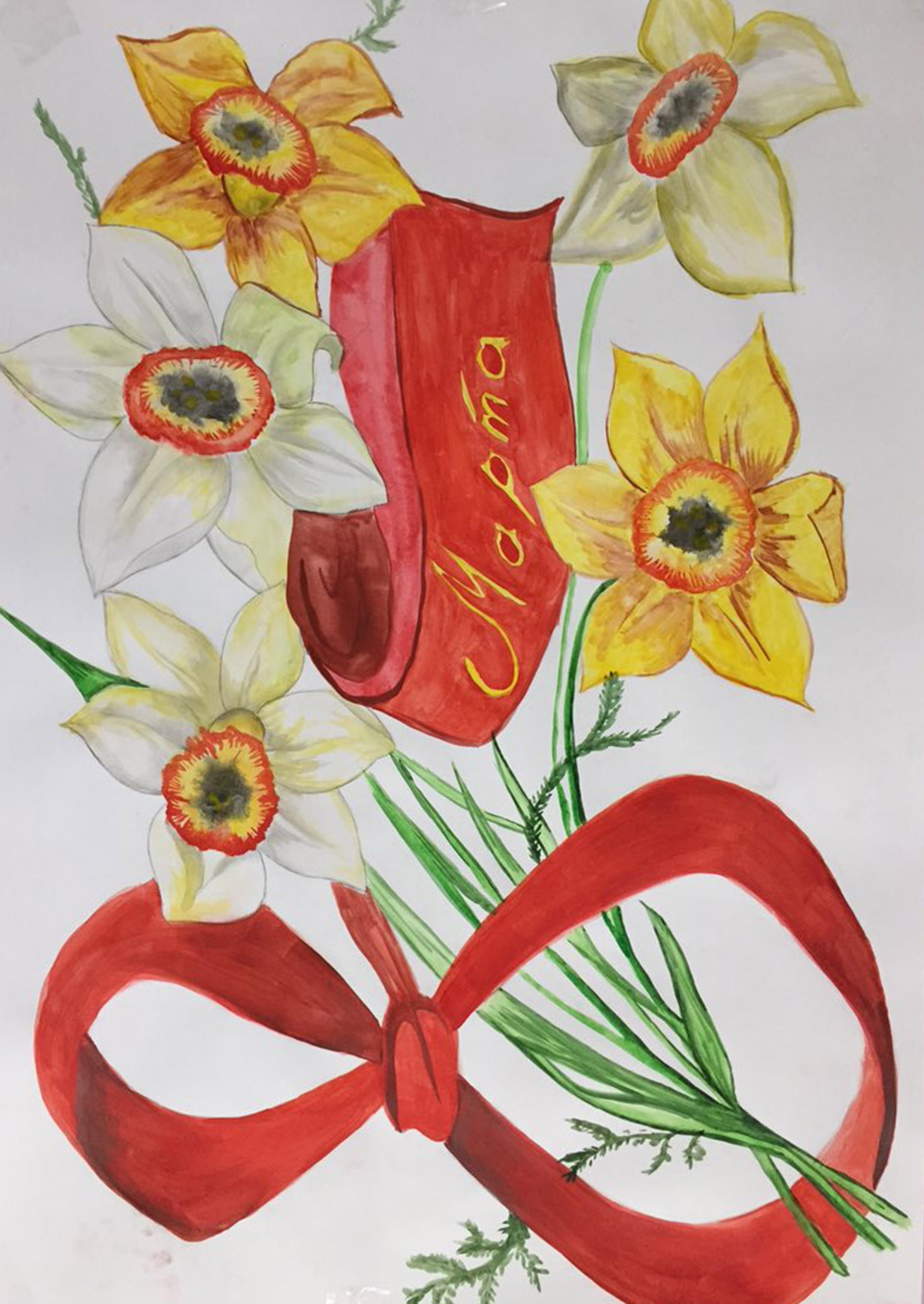 Картинка на 8 марта маме для срисовки