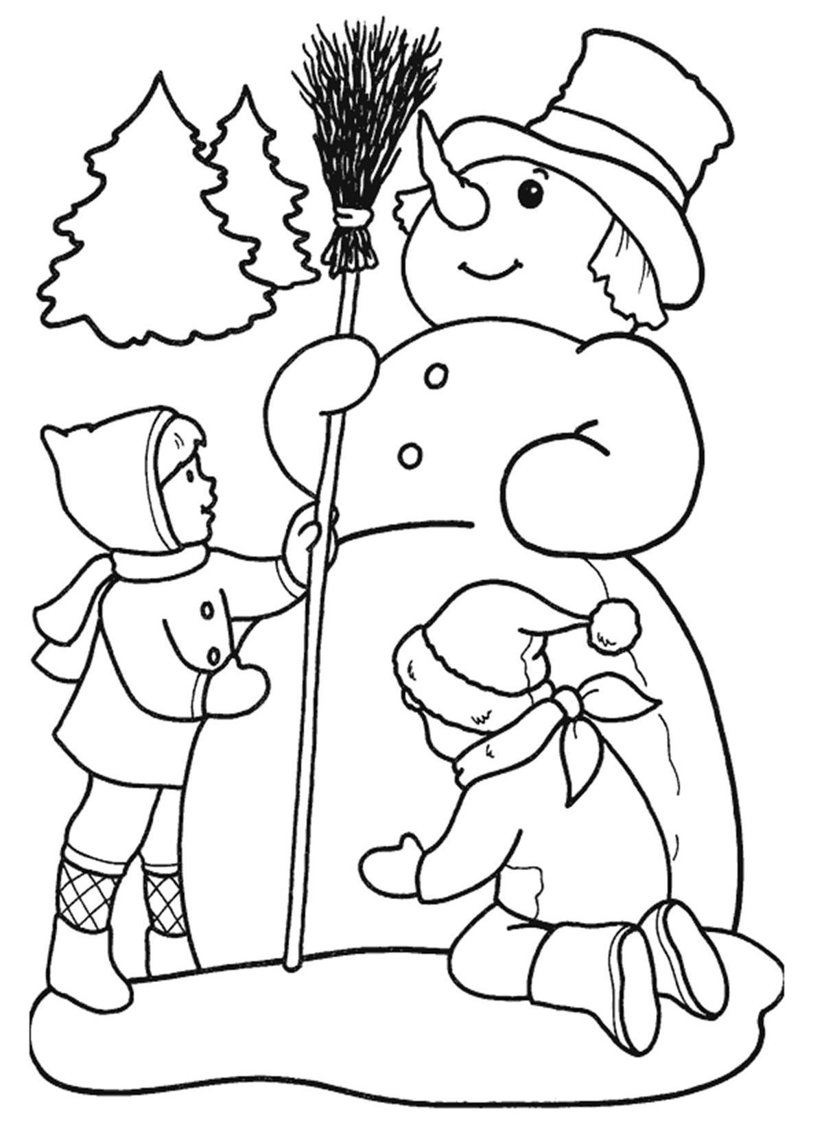 Картинка на Новый Год для распечатки и вырезания
