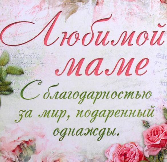Картинка о матери