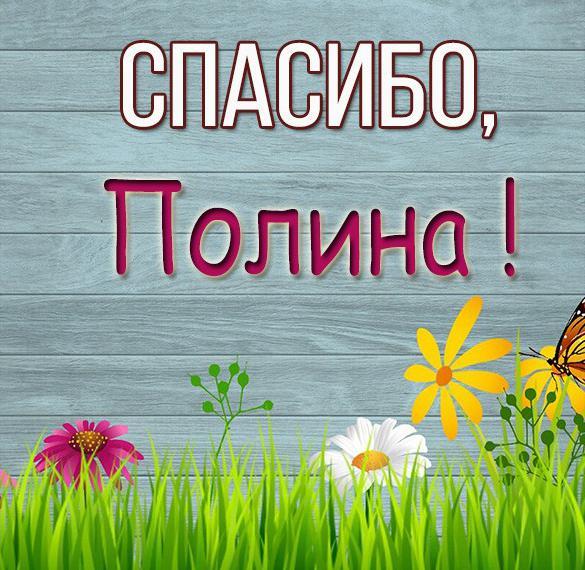 Картинка Полина спасибо