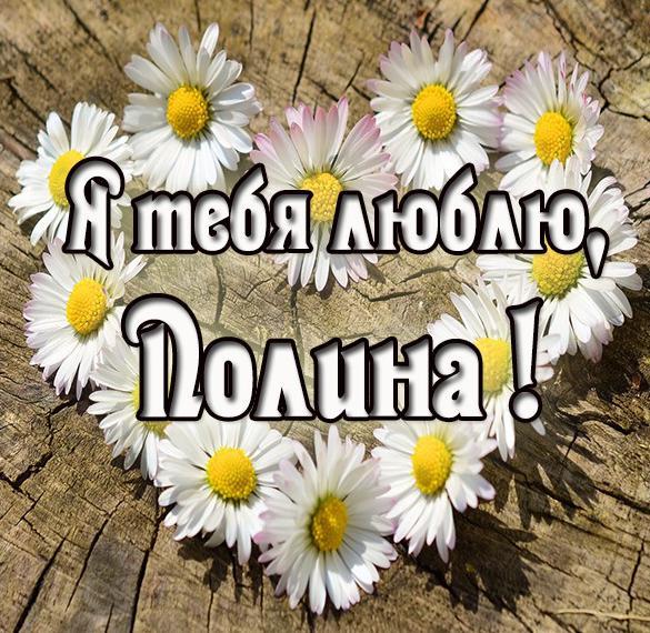 Картинка Полина я тебя люблю