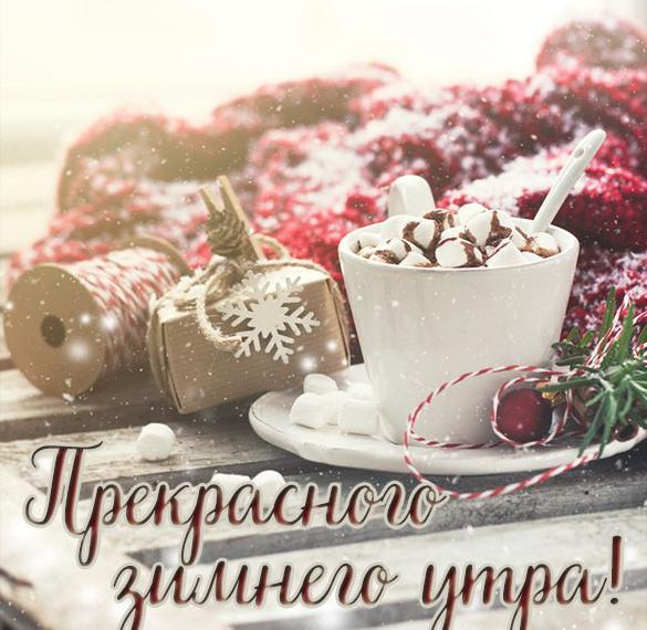 Картинка прекрасного зимнего утра и дня красивая