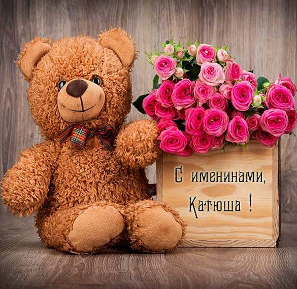 Картинка с днем Катюши с цветами