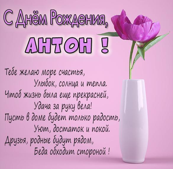 Антон день рождения открытки