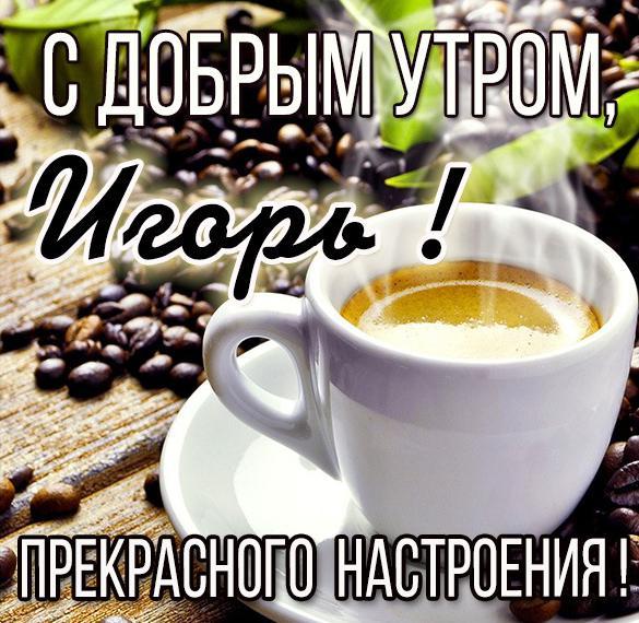 Картинка с добрым утром Игорь