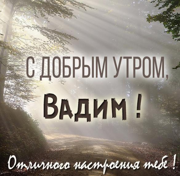 Картинка с добрым утром Вадим