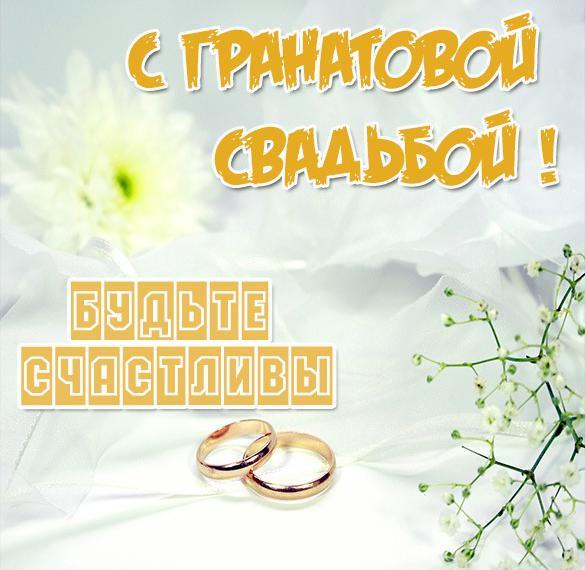 Картинка с гранатовой свадьбой на 19 лет