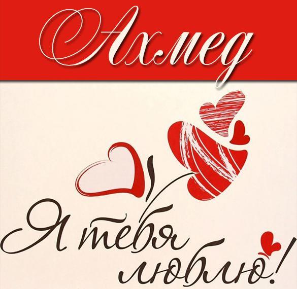 Картинка с именем Ахмед я тебя люблю