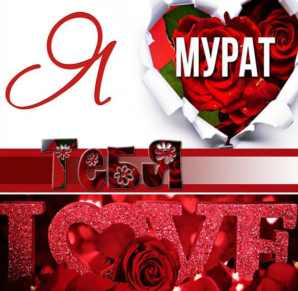 Картинка с именем Мурат я тебя люблю