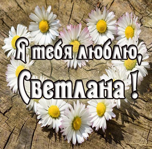 Картинка с именем Светлана я тебя люблю