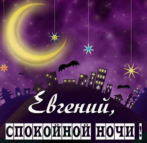 Картинка спокойной ночи Евгений