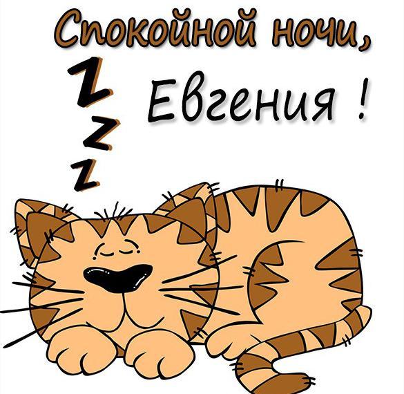Картинка спокойной ночи Евгения