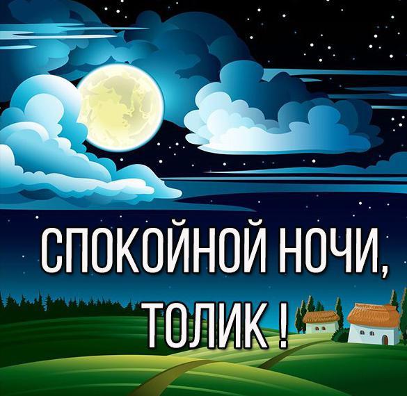 Картинка спокойной ночи Толик