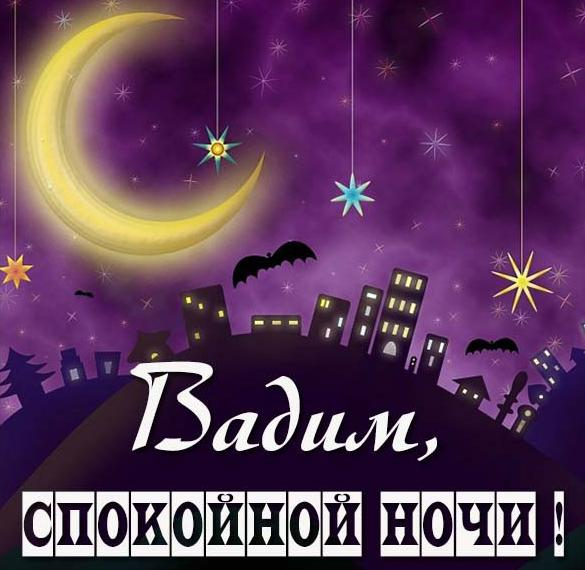 Картинка спокойной ночи Вадим