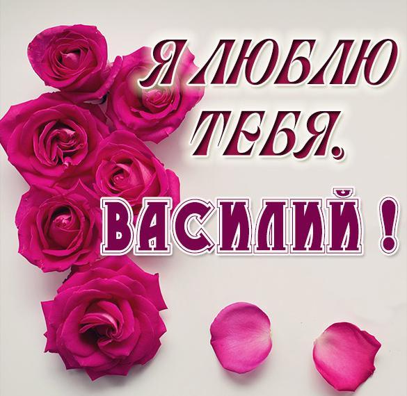 Картинка Василий я тебя люблю