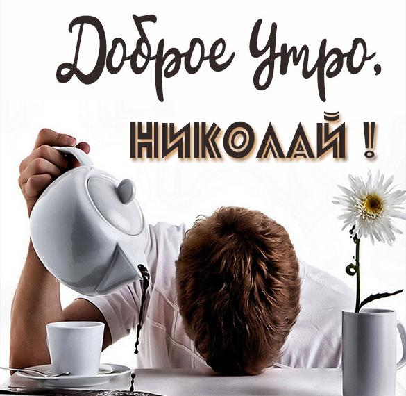 Красивая картинка доброе утро Николай