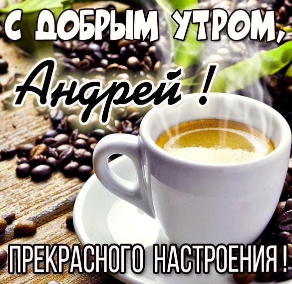 Красивая картинка с добрым утром Андрей