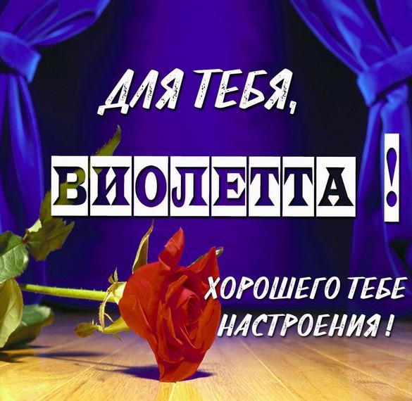 Красивая открытка для тебя Виолетта