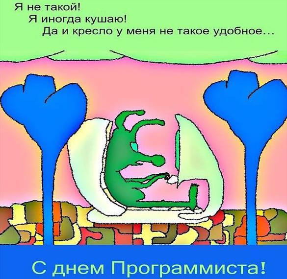 Красивая открытка с днем программиста